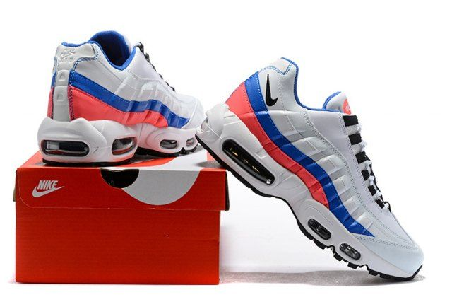 new product 8bec3 aa802 Nike Air Max 95 Essential Men s Running Shoes White Blue Red