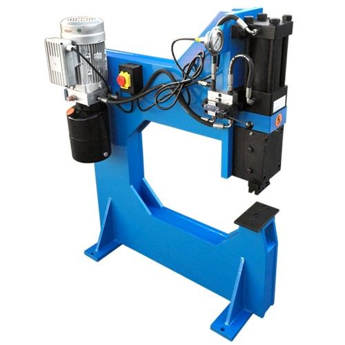 110v 10 Ton Hydraulic Bench Press Punch Round Square Dies 25 Throat Depth Products Bench Press Bench Rounding