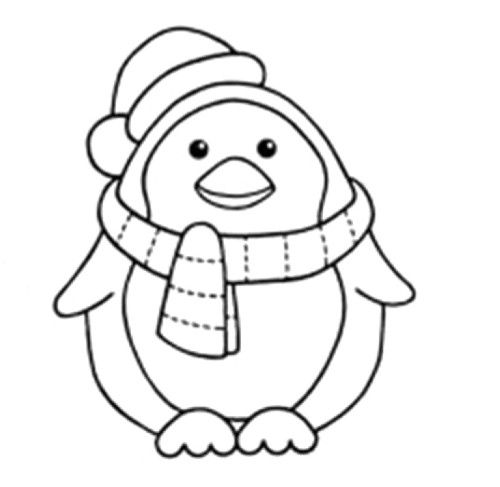 Winter Penguin Who Is Steady And Cool Coloring Page - Winter ...