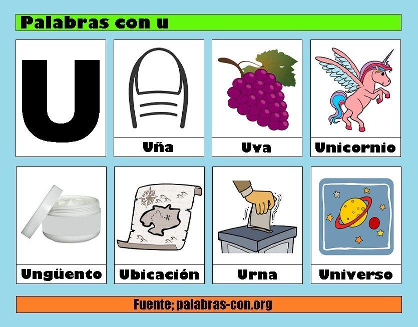 Palabras Con U Actividades De Letras Palabras Con I Letras Del Abecedario
