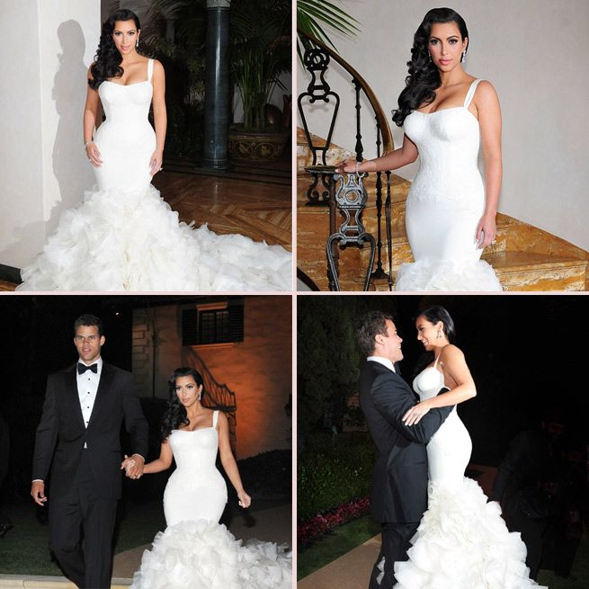 Kim Kardashian Wedding Dress Kim K Kris Humphries Wedding