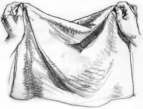 Piece of cloth drawing