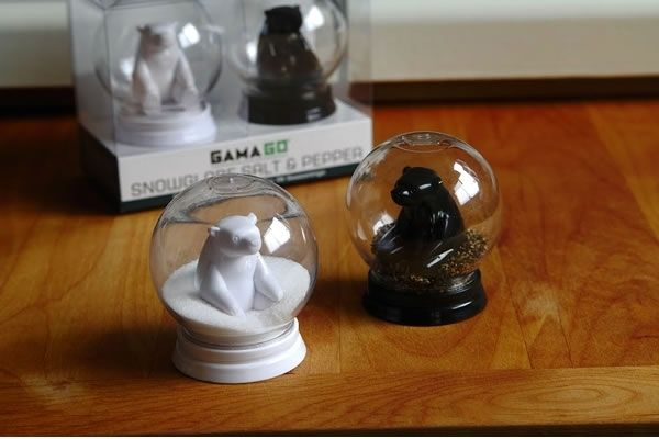 Snowglobe Salt & Pepper Shakers