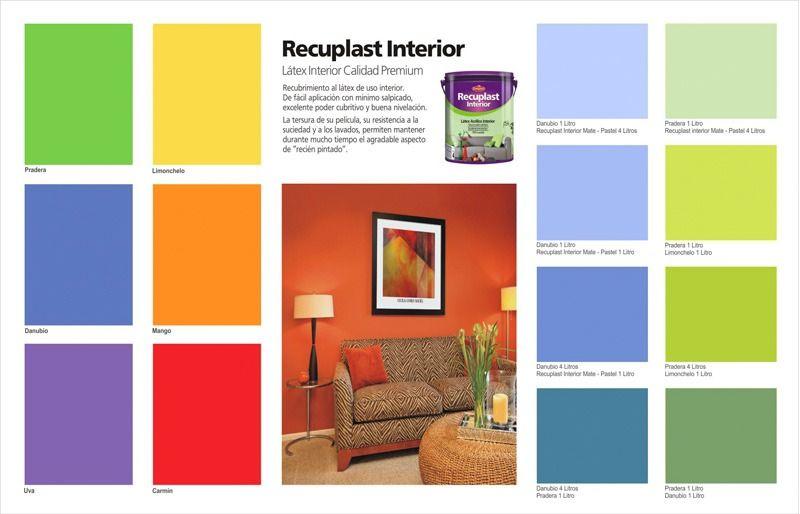 Pintura Latex Interior Lavable En Colores Recuplast 1 Litro - $ 121,90 en MercadoLibre