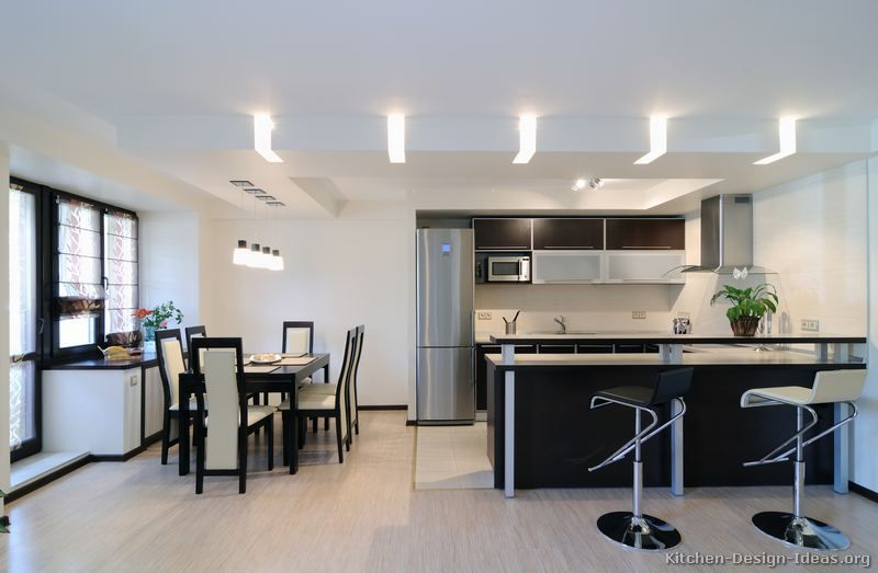 Kitchen Idea Of The Day Modern Two Tone Kitchens Very Good Two Tone Wh Kitchen Island Light Fixtures Modern Kitchen Lighting Design Modern Kitchen Lighting