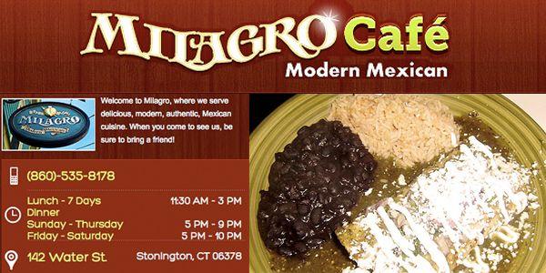 Best Mexican Latin Food Milagro Stonington Ct Www Mysticmenus Com