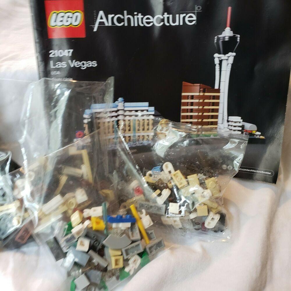 Lego Architecture Las Vegas Skyline 21047 No Box May Be Incomplete Instructions Lego Lego Architecture Vegas Skyline Las Vegas