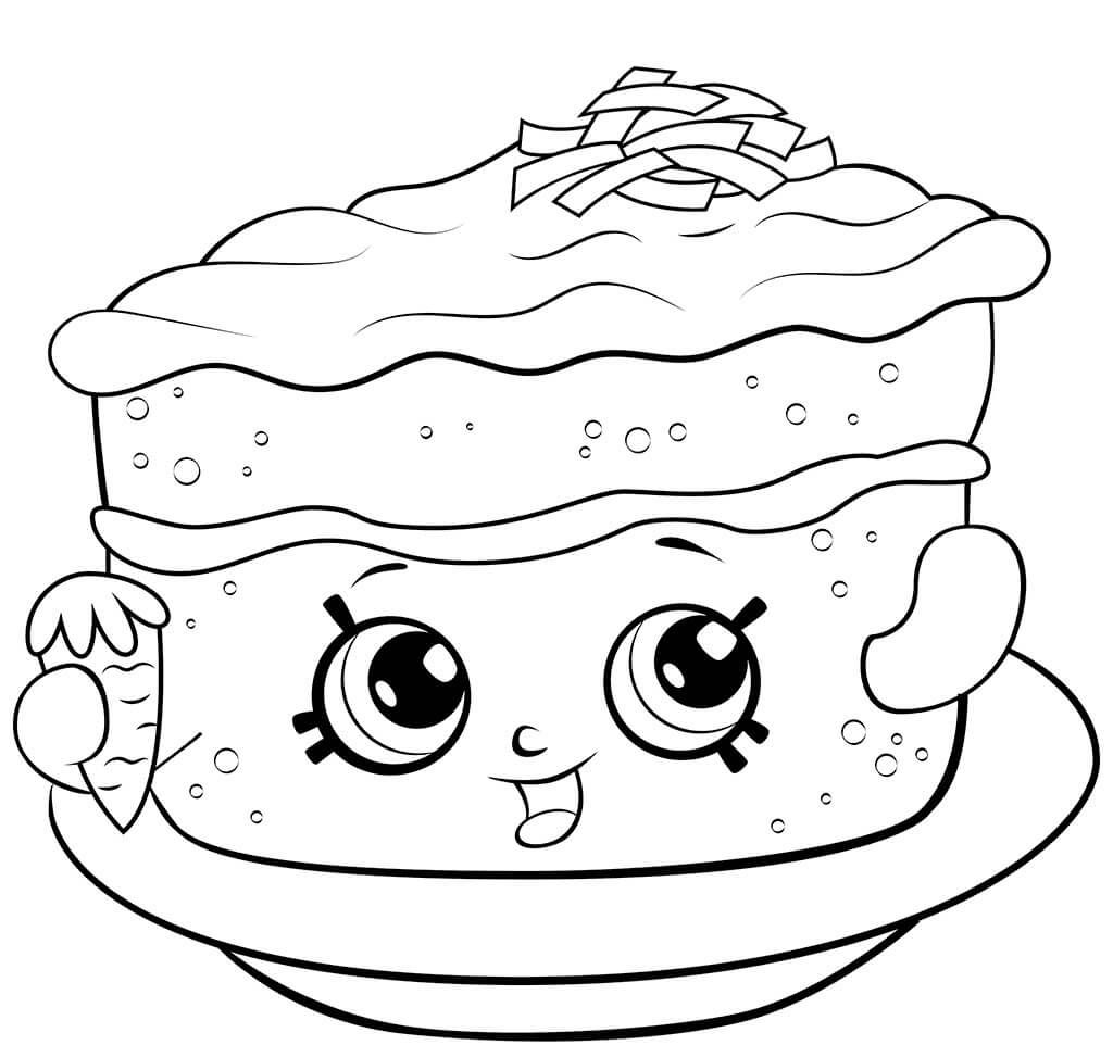 Shopkins Season 6 Carrot Cake Coloring Page Shopkins Colouring Pages Cute Coloring Pages Coloring Pages To Print