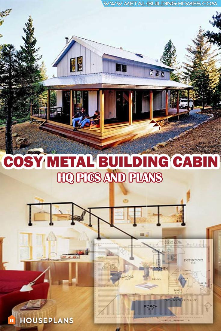 Cosy Metal Building Cabin w Wrap Around Porch