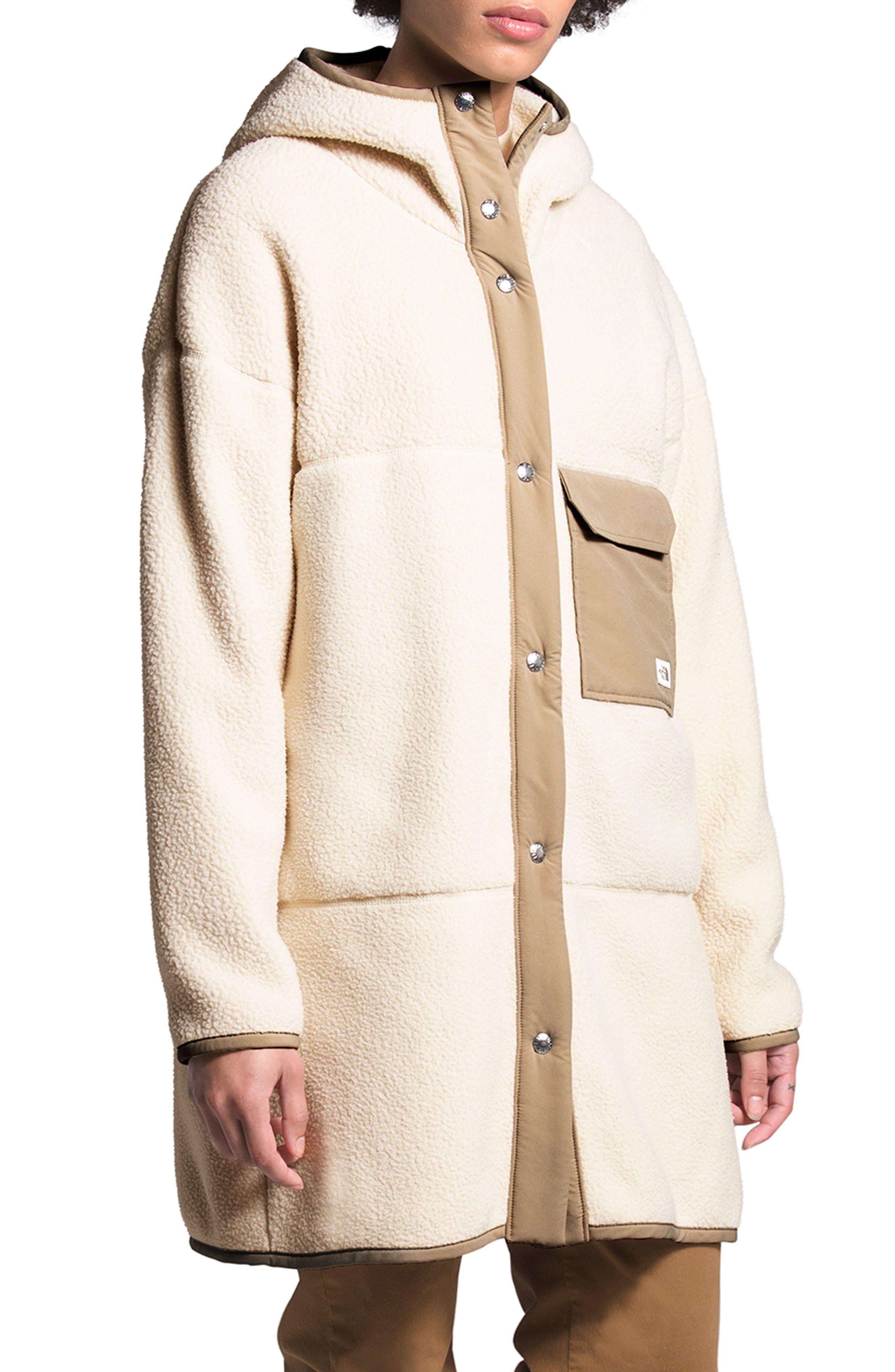 The North Face Mashup Fleece Hooded Coat Nordstrom North Face Women Hooded Coat The North Face [ 4048 x 2640 Pixel ]