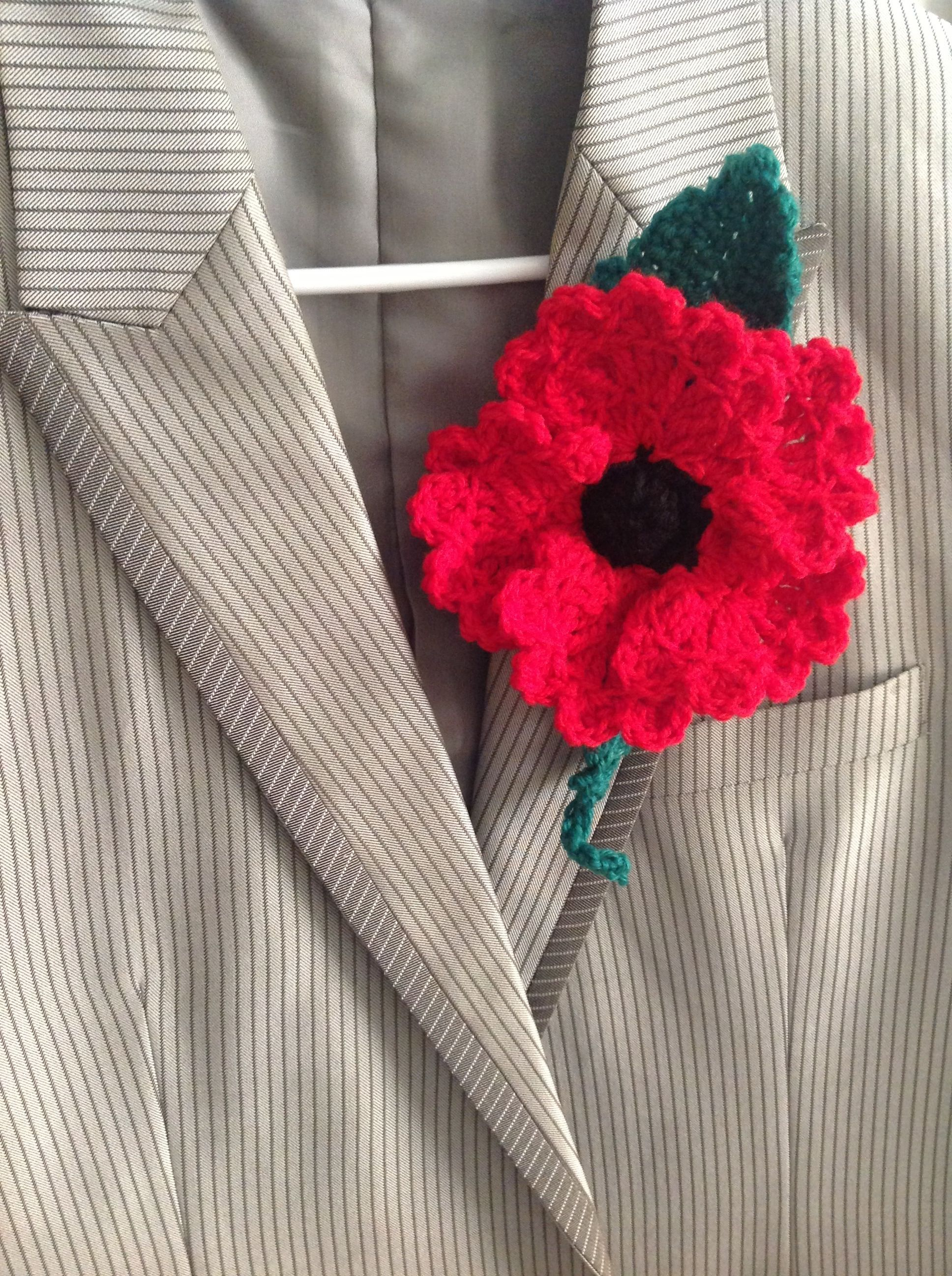 Poppy On The Lapel Szydeko Pinterest Crotchet