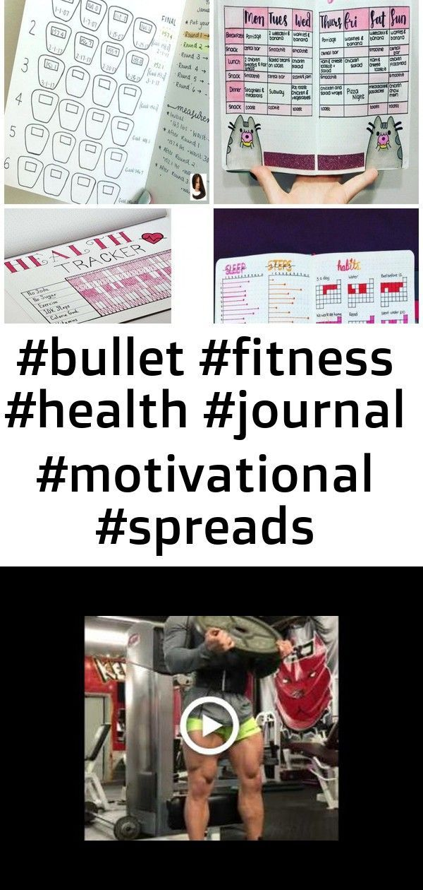 #bullet #fitness #health #journal #motivational #spreads motivational bullet journal spreads for h 1...