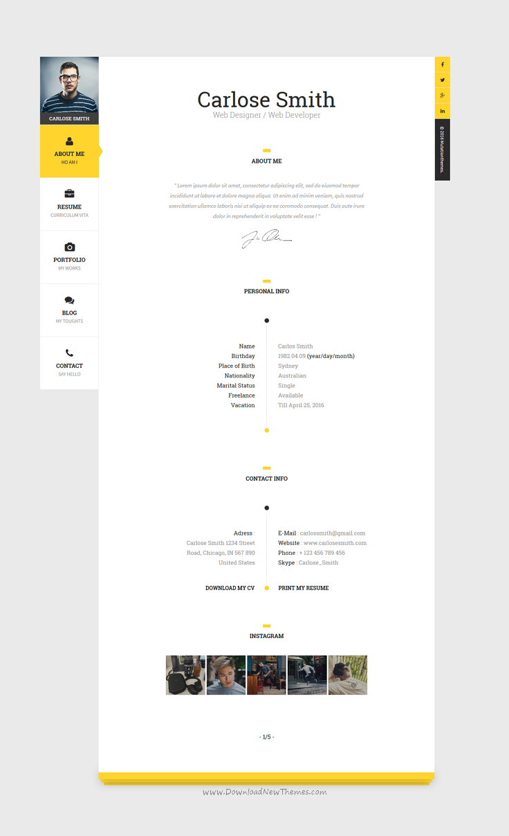 The Book : Personal vCard Template | Template and Portfolio website