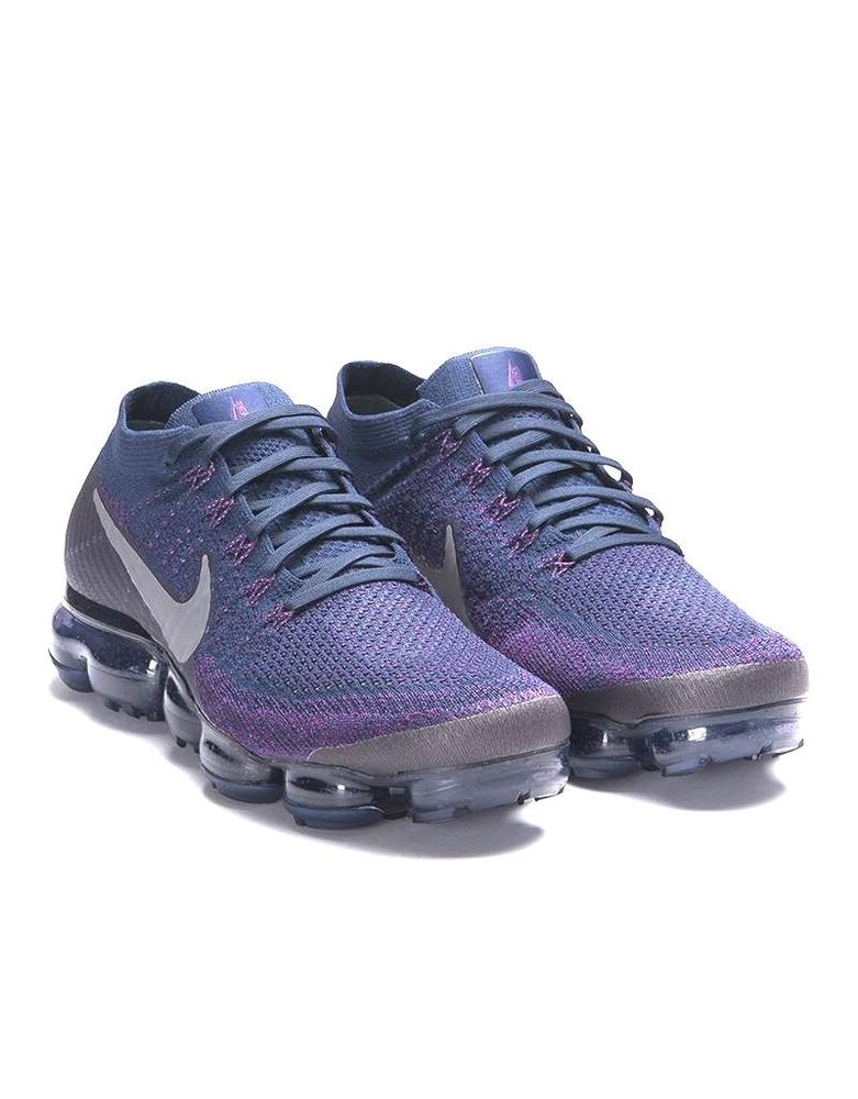 7a7636f6fb086 RARE - MENS NIKE LAB AIR VAPORMAX FLYKNIT PREMIUM RUNNING SHOES BLUE DEEP  PURPLE  Nike  RunningCrossTraining