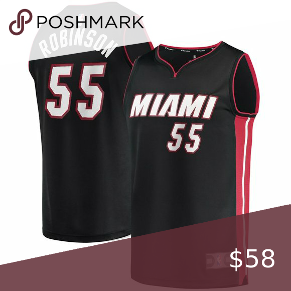 Men S 55 Miami Heat Duncan Robinson Black Jersey In 2020 Miami Heat Nba Shirts Jersey