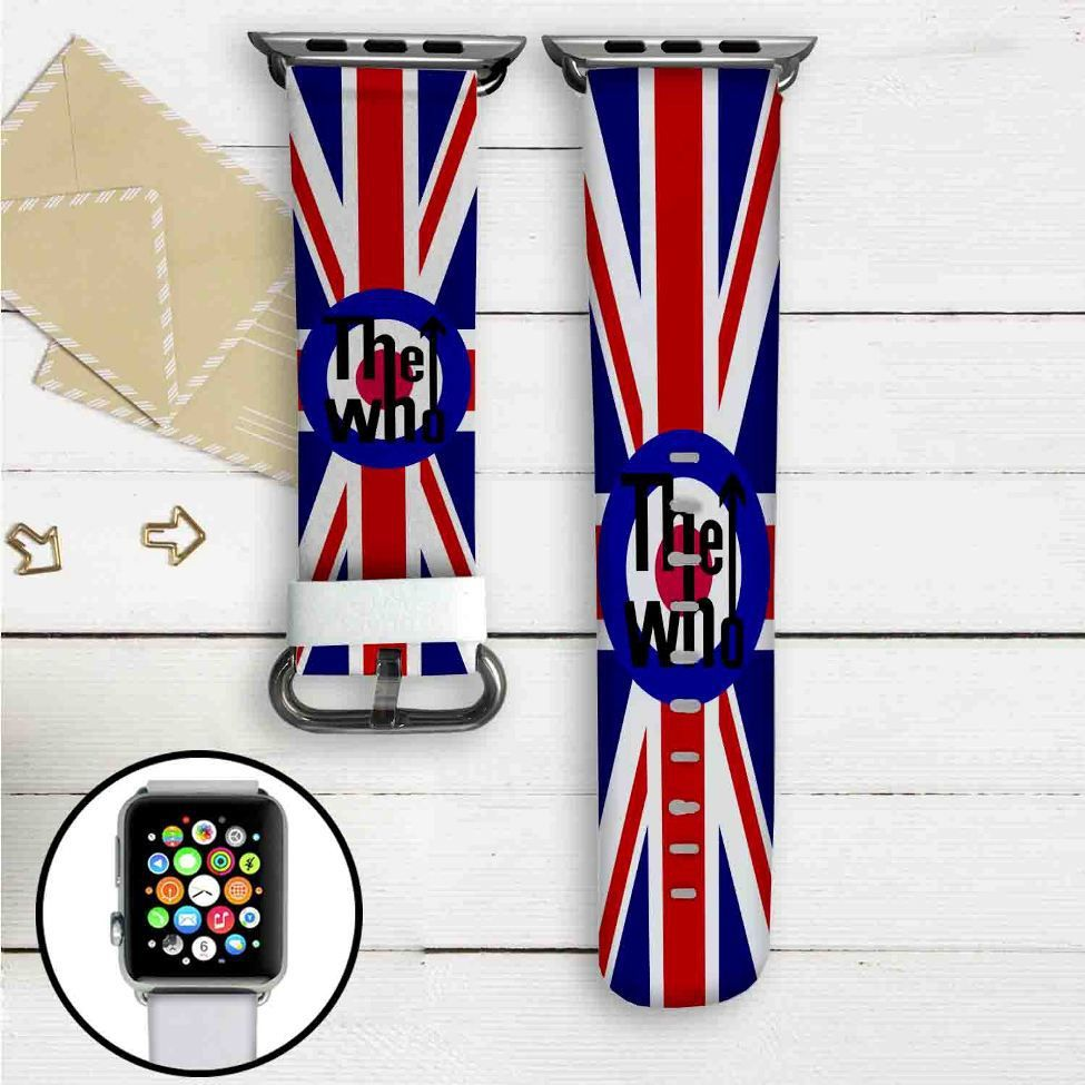 The Who Custom Apple Watch Band Leather Strap Wrist Band Replacement