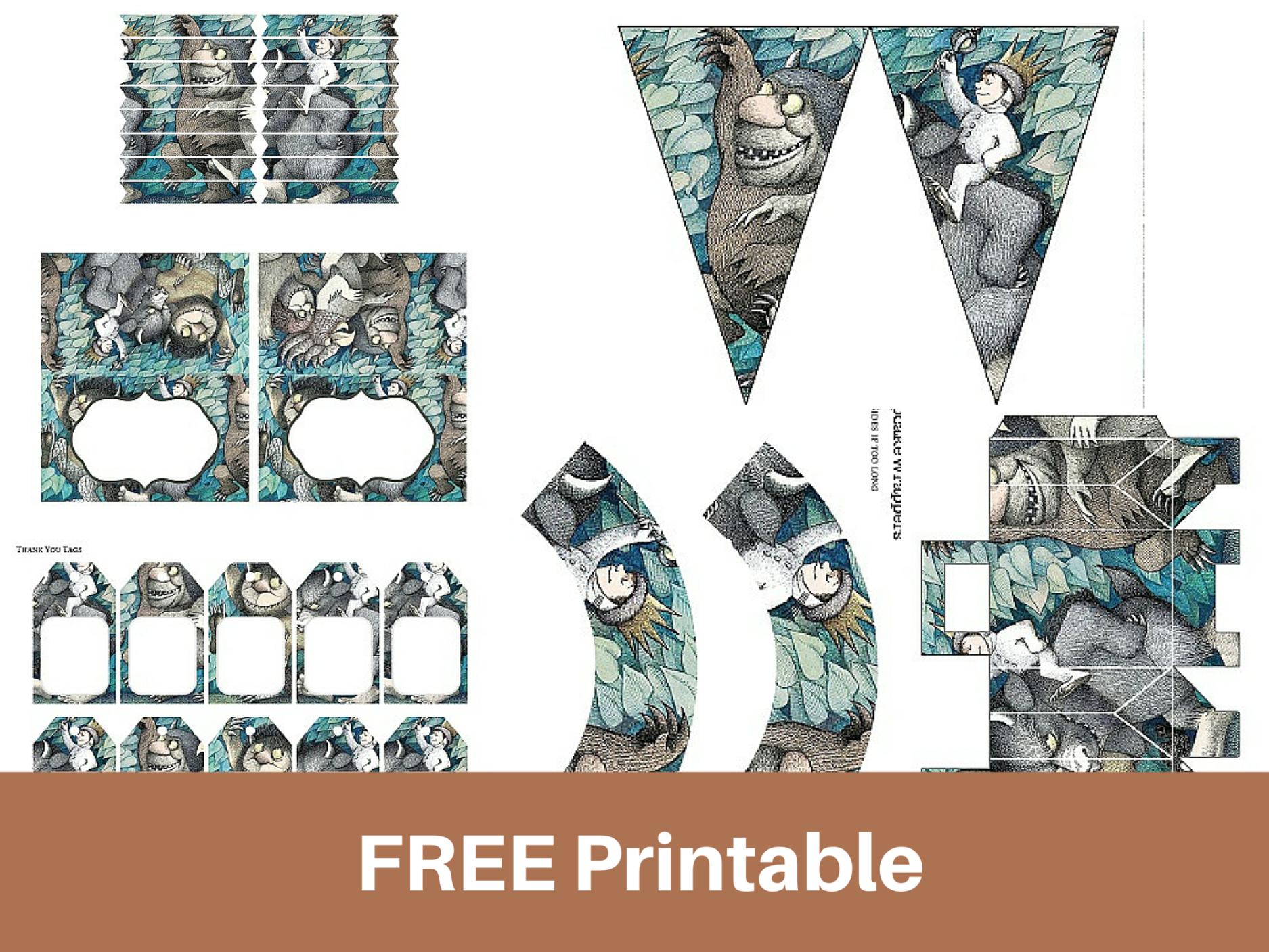 Free Birthday Printables Boy ~ Free printable u201cwhere the wild things areu201d baby shower birthday