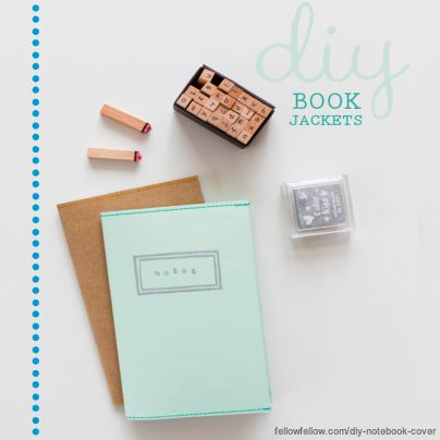 Get the kids excited for school. Create stylish book covers with this DIY post from @Fellow Fellow