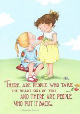 Mary Engelbreit-PEOPLE PUT YOUR HEART BACK-Blank Greeting Card w/Envelope-NEW!