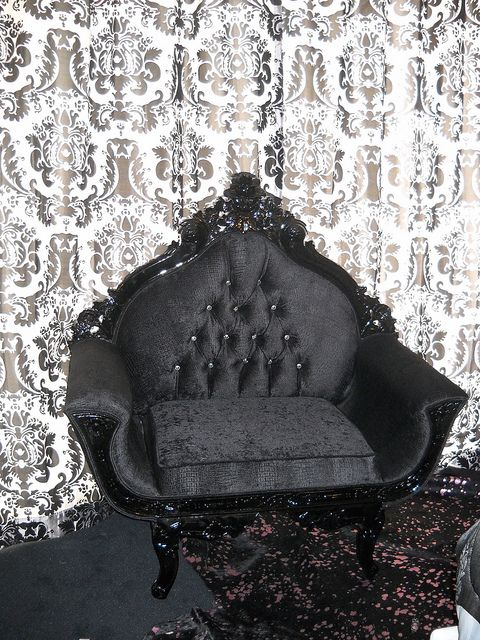 4051 ROYAL CHAIR BLACK CROCO VELVET 4'-0'' WIDE by Diva ...