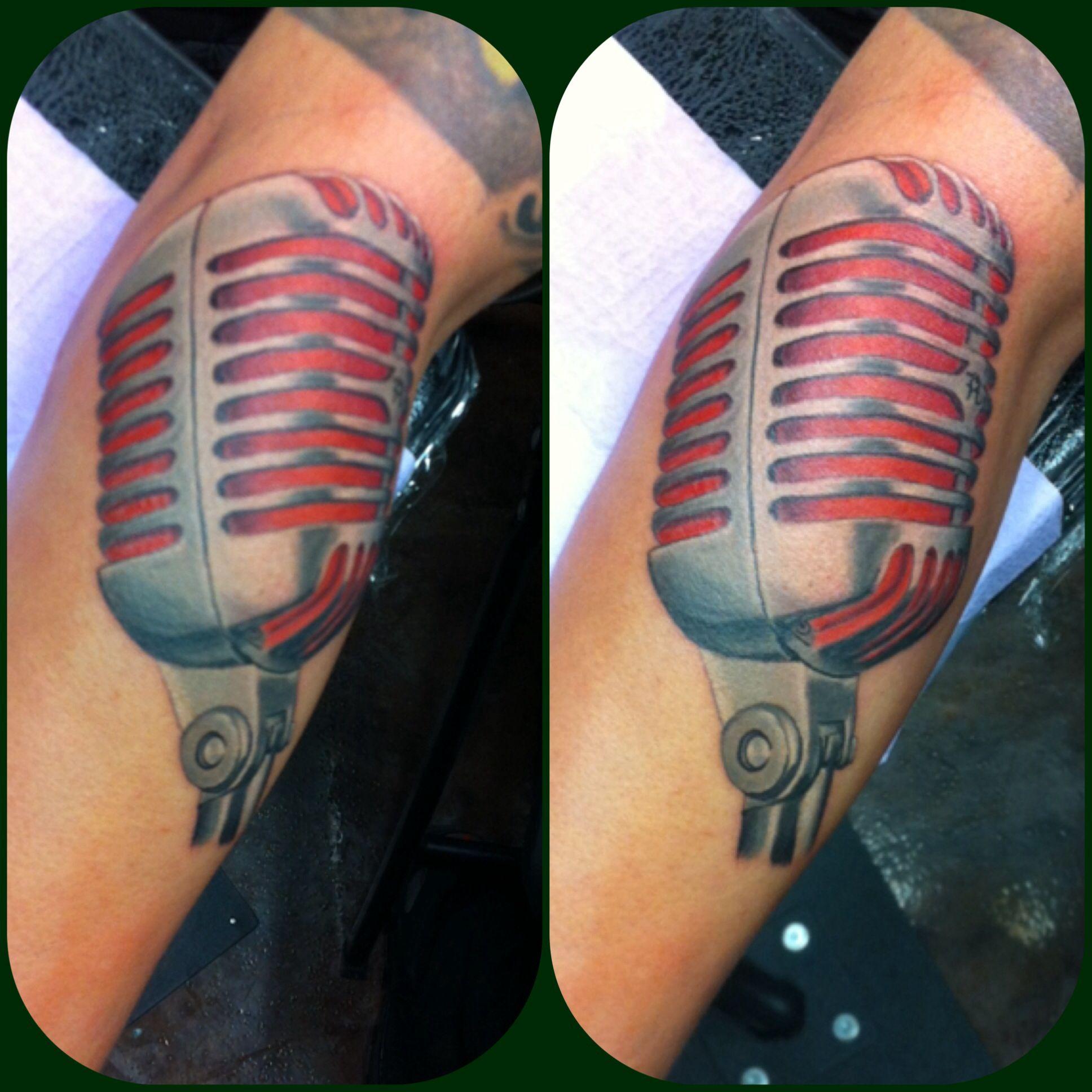 Vintage mic tattoo