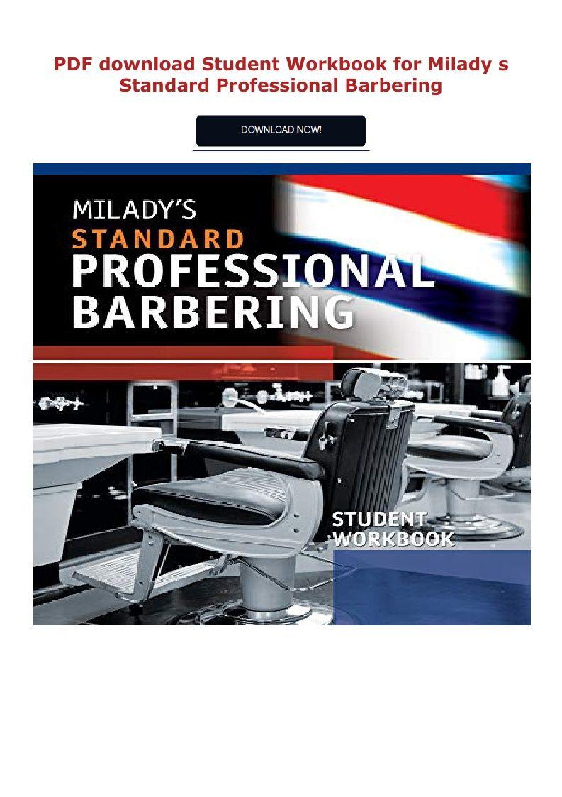Pdf Download Student Workbook For Milady S Standard Professional