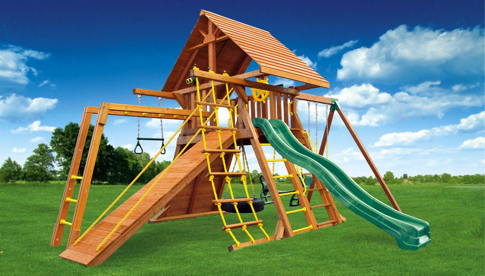 the supreme jungle gym 5 comes with a cedar wood roof monkey