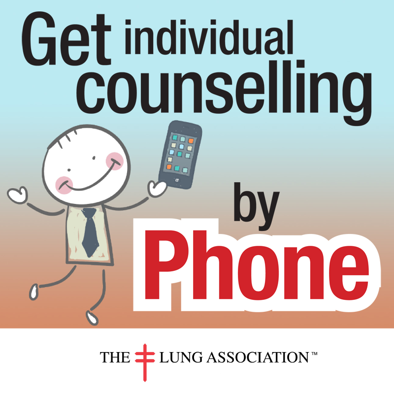 Get individual counselling by phone to get support in quitting!