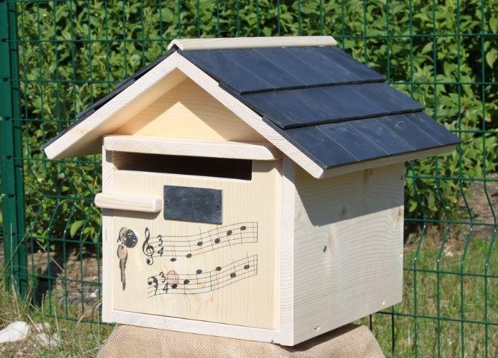 boite aux lettres bois creastuce domiciladore 1 porte prestige bo te aux lettres pinterest. Black Bedroom Furniture Sets. Home Design Ideas