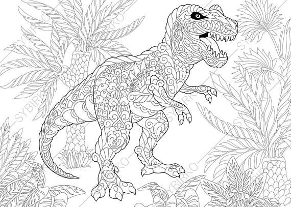Tyrannosaurus Dinosaur T Rex Dino Coloring Pages Animal Coloring
