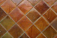 clean unglazed ceramic tile grout