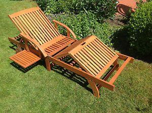 Gartenliege Rhodos Sonnenliege Holzliege Liege Holz Relaxliege Sun