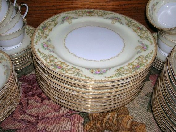 2 Vintage Circa 1933 Noritake China Dinner Plates Nanette Pattern No ...