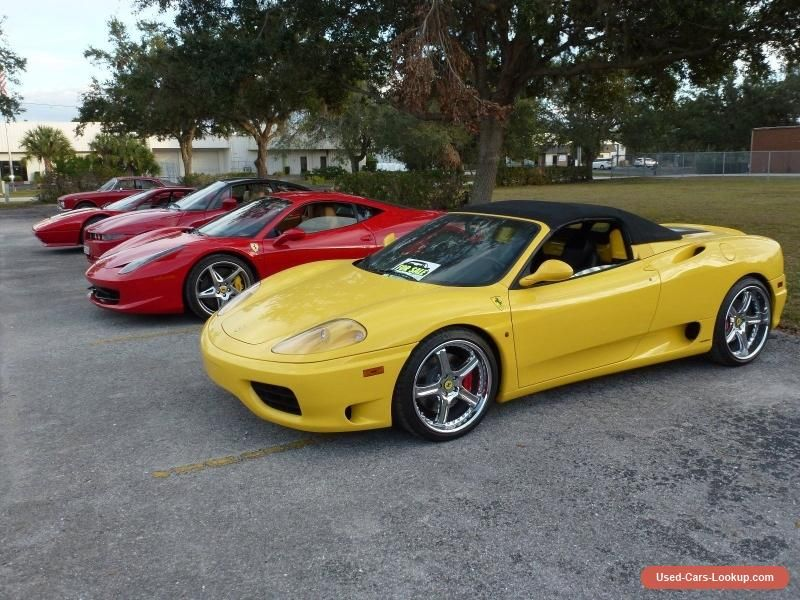 Car For Sale 2001 Ferrari 360 Spider With Images