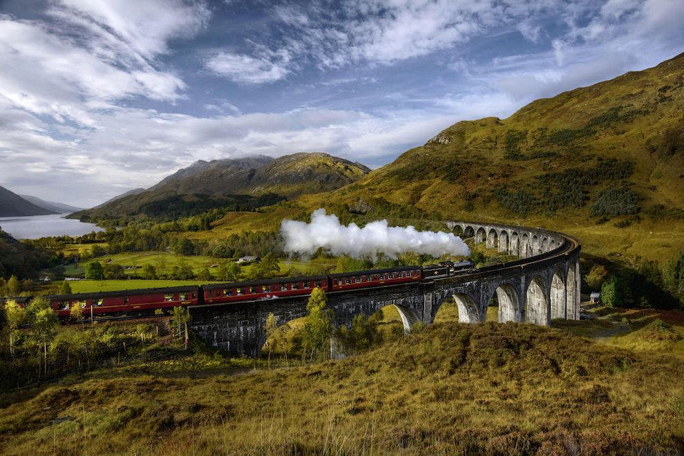 Ride The Jacobite Steam Train Across Glenfinnan Viaduct In Scotland Harry Potter Filming Locations Places In Scotland Harry Potter Train