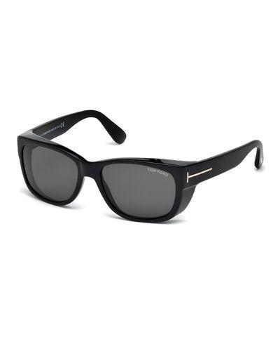 e1eece6b1563b Carson Acetate Wraparound Sunglasses