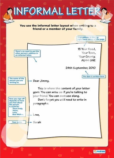 Resultado de imagen para formal and informal emails english format of informal letter informal letter poster expocarfo Images