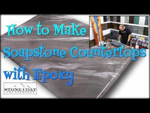 429 Make Soapstone Countertops Using Epoxy Youtube In 2020