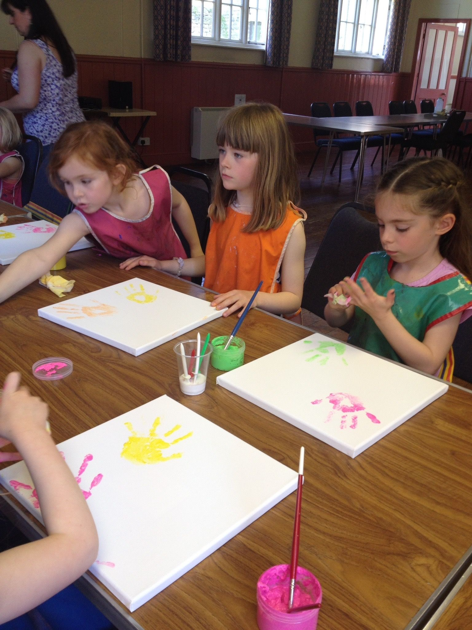 Canvas Factory Crafty Parties Create Your Own Hand Print