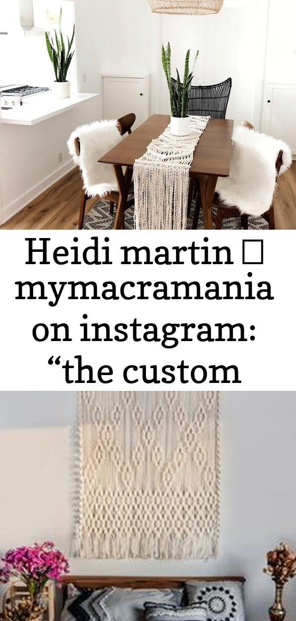 Heidi Martin  MyMacramania on Instagram The custom macramé runner that I shared the other day made it to the dining table of cottageandsea  Definitely with Macrame...