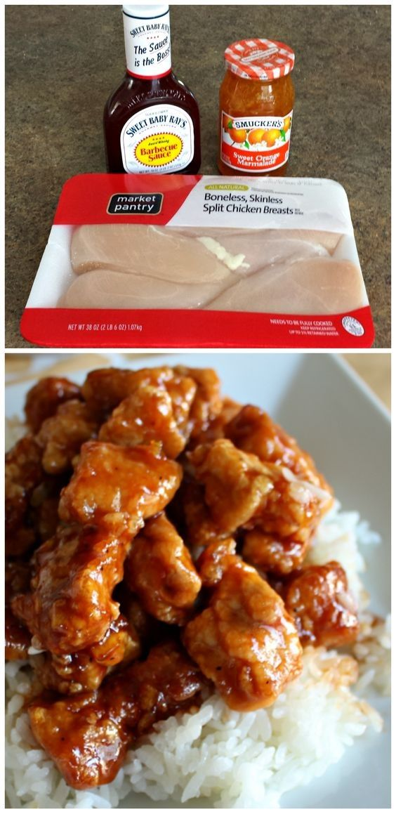 3 Ingredient Orange Chicken Sauce | Chinese Food #chineseorangechicken