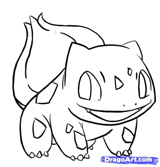 easy bulbasaur | how to draw bulbasaur from pokemon step 8 | Drawing ...