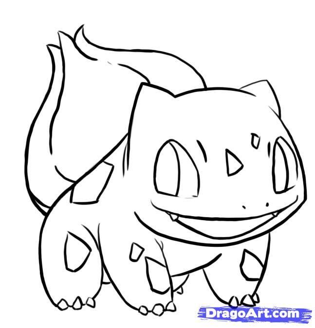 How To Draw Bulbasaur From Pokemon By Mstormw Easy Pokemon
