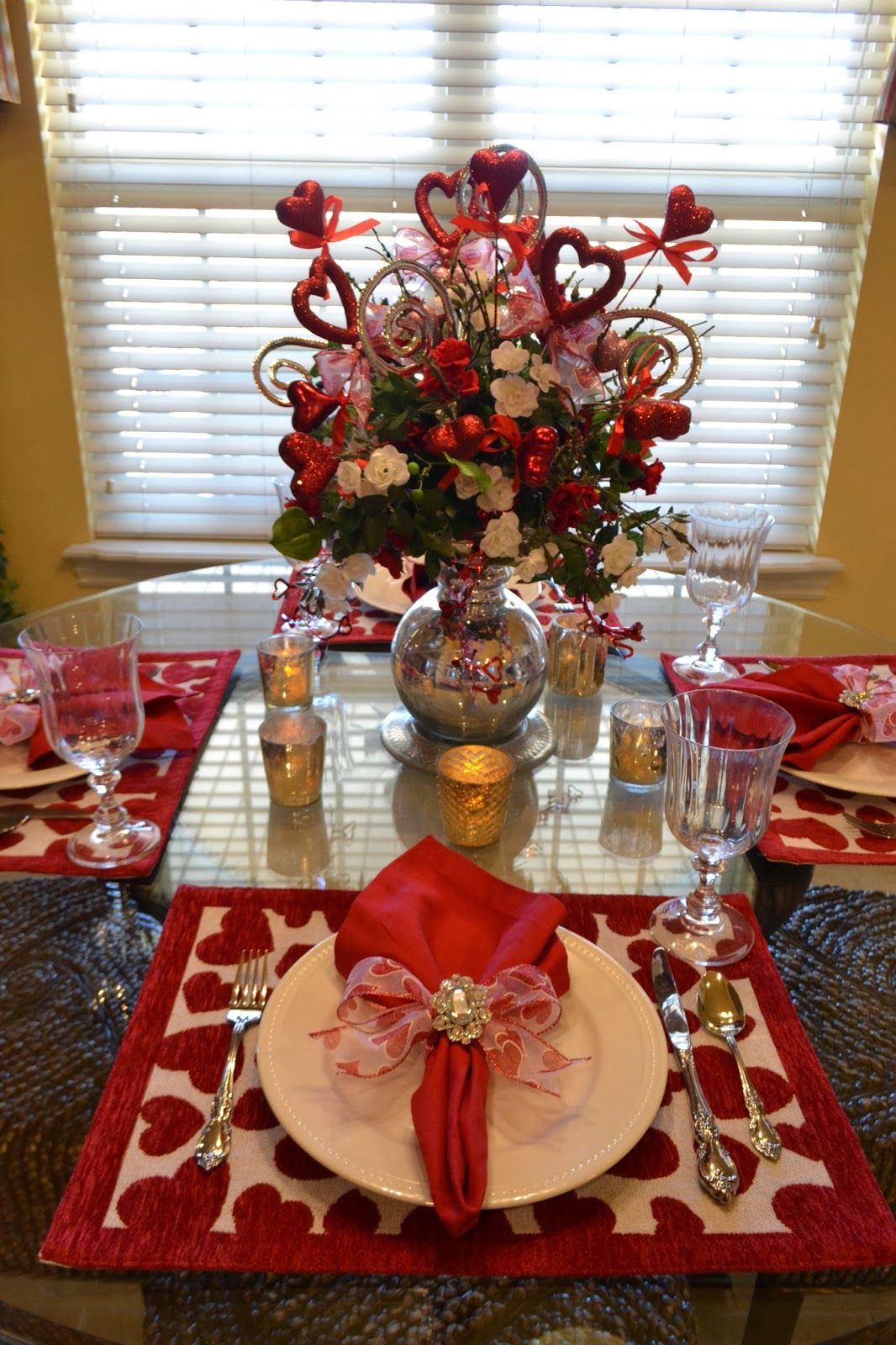 Valentines Day Tablescape From Kristenu0027s Creations