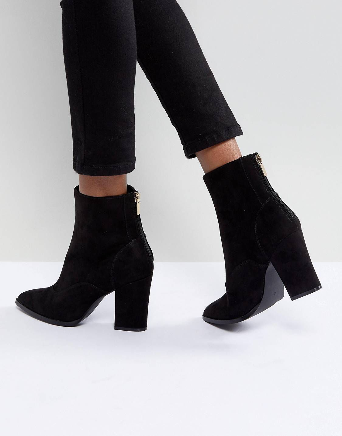 River Island Pointed Toe Heeled Boots