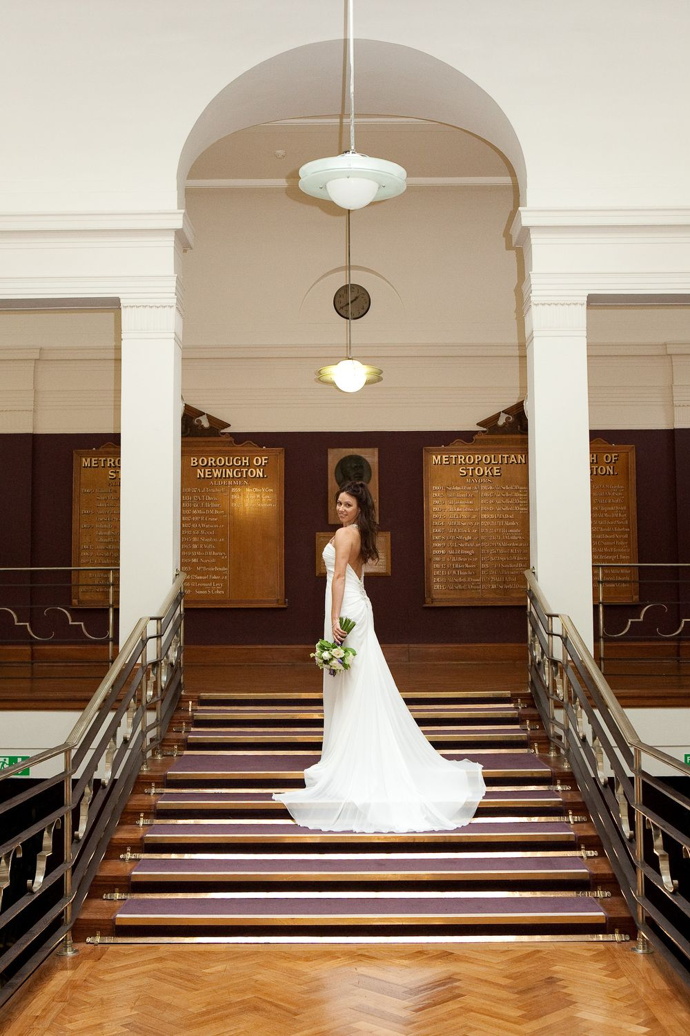 A Bride Outside Stoke Newington Council Chamber Civil CeremonyWedding VenuesWedding
