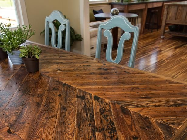 How To Build A Dining Table With Reclaimed Materials Diy Dining