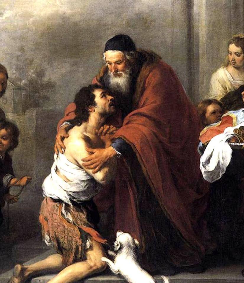 Imagen: El regreso del hijo pródigo, de Bartolomé Esteban Murillo (Sevilla, 1617 – 1682). #micasa #familia #devoción