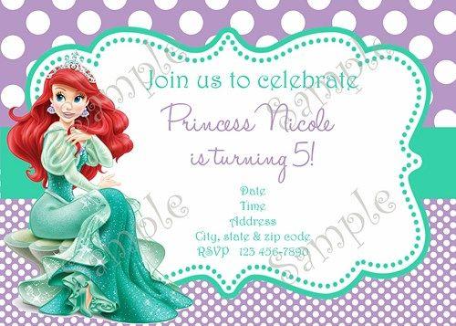 Little Mermaid Birthday party Invitation Ariel Invitation FREE – Ariel Birthday Party Invitations