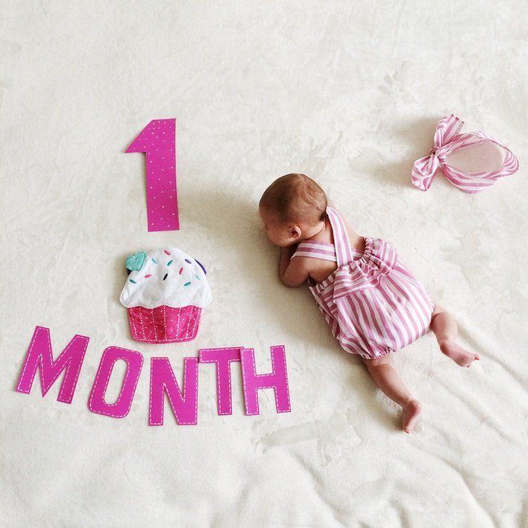 Поздравления по месяцам до года в картинках для девочки